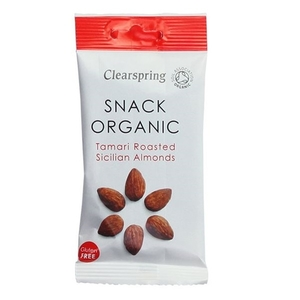 Clearspring Organic Snack Tamari Roasted Sicilian Almonds 30 gram/ pack